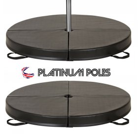 Platinum Poles BLACK 120cm x 10cm Dance Crash / Pole Mat