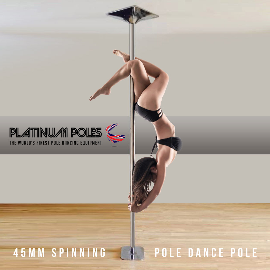Platinum Poles 45mm Dance / Fitness Pole Static & Spinning