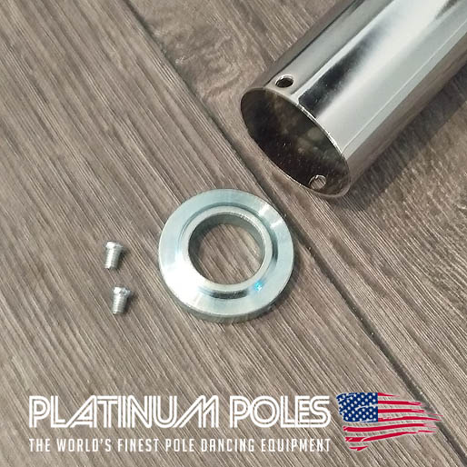 Platinum Poles Cover Sleeve Ring & Screws (Sleeve not Included)