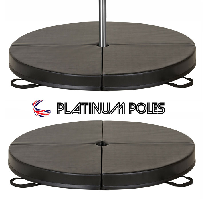 Platinum Poles BLACK 150cm x 10cm Dance Crash / Pole Mat